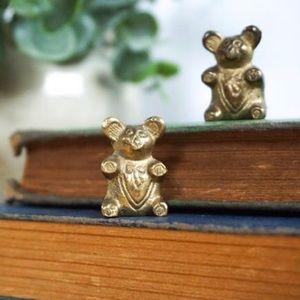 Tiny Brass Vintage Bears   Teddy Bear Collection